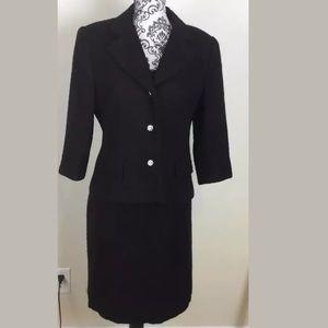 Talbots Black Dress And Blazer 2 Pieces Set 12